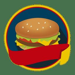 Logo hamburguesa comida rápida