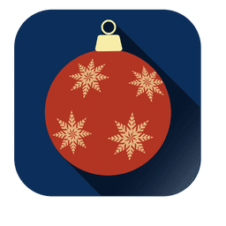 Painted bauble square icon