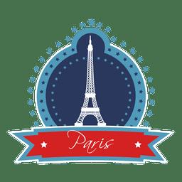 Paris landmark emblem