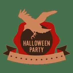 etiqueta del cuervo de Halloween