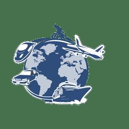 World travel transportation globe