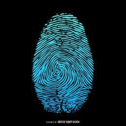 Fingerprint flat illustration design