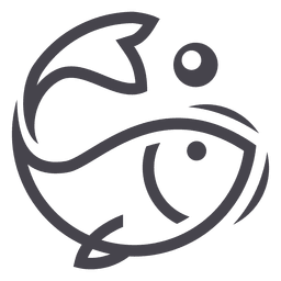 Fishing fish logo icon