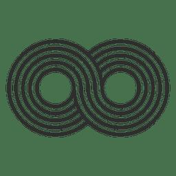 Striped infinity logo