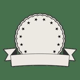 Label badge ribbon
