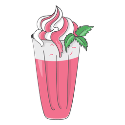 Milkshake strawberry dessert