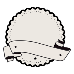 Vintage label badge ribbon with two stars