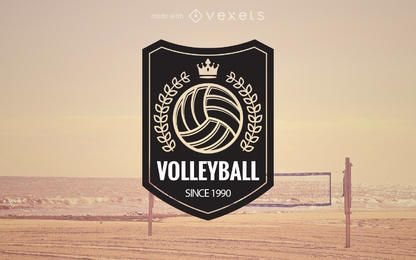 Volleyball logo label maker