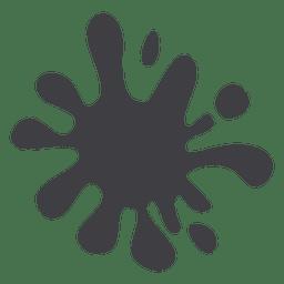 Gray cartoon stain