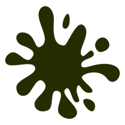 Green cartoon stain