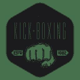 Kickboxing club logo