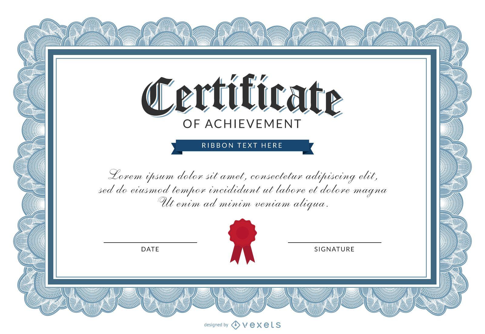 certificate of achievement template vector download