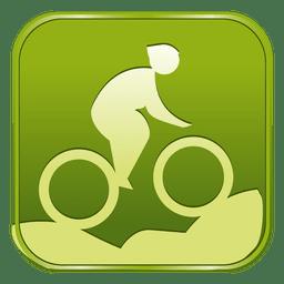 Cycling mountain bike square icon