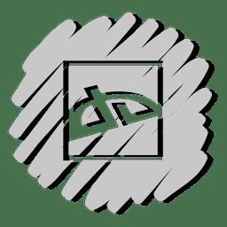 Deviantart distorted icon