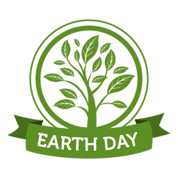 Earth day plantation label