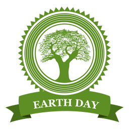 Earth day tree badge