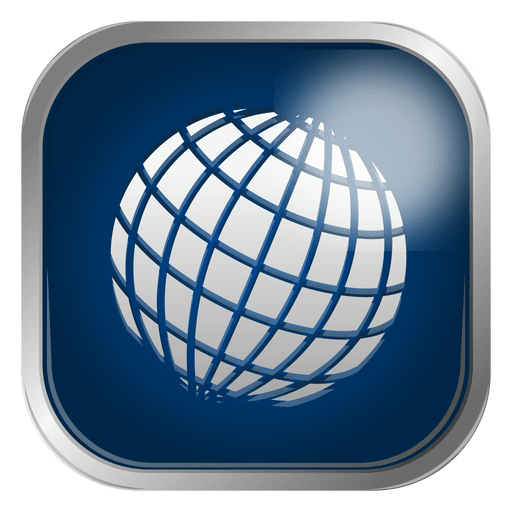 Globe grid icon Transparent PNG