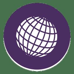 Globe round icon