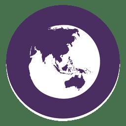 Globe round icon 2