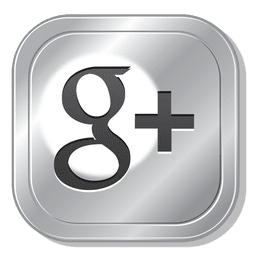 Google plus metal button
