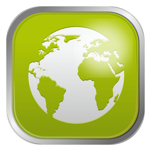 Green globe icon Transparent PNG