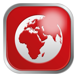 Red globe icon