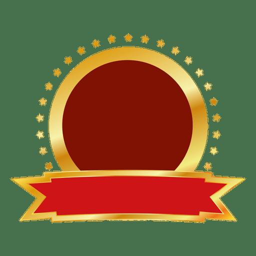 red gold round badge transparent png svg vector