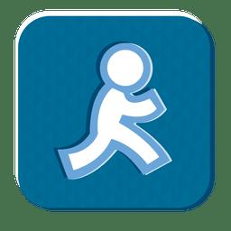 Social media rubber icon