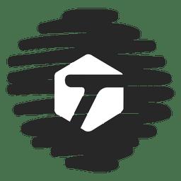 T  distorted round icon