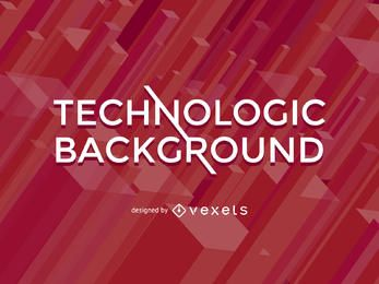 Red abstract background with 3D polygons