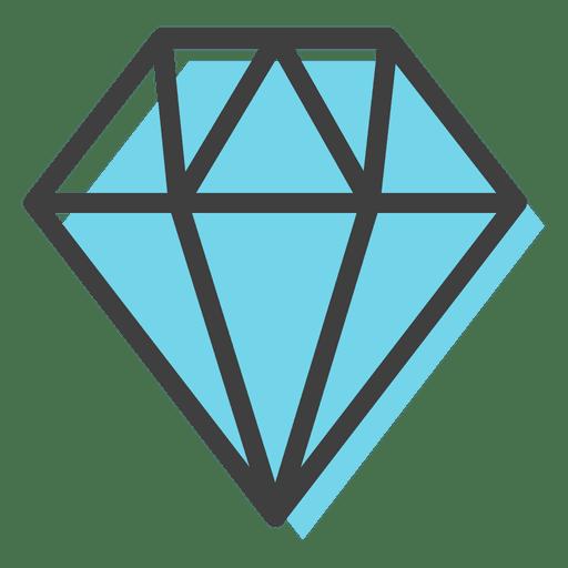 Blue diamond gems decoration Transparent PNG