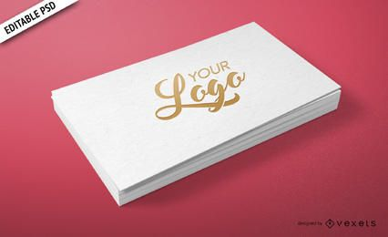 Personal business card PSD mockup