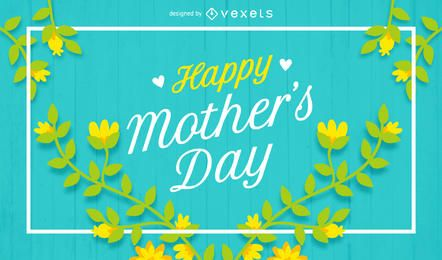 Happy Mother's Day poster with flowers