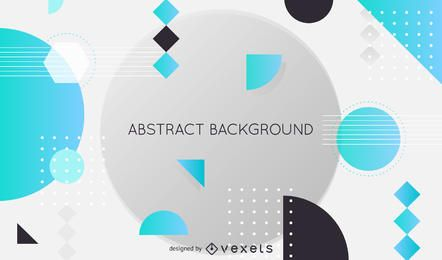 Fondo abstracto con elementos futuristas