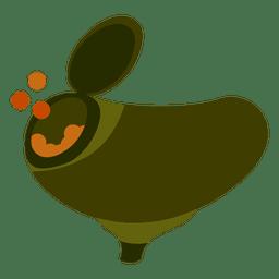Paintball gun hopper