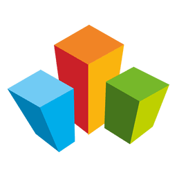 Colored cubes real estate logo