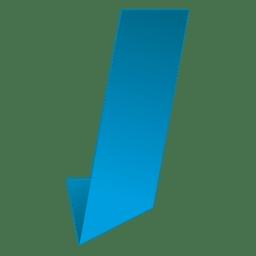 I letter origami isotype
