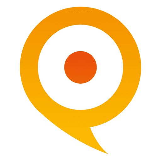 Orange pointer globe icon Transparent PNG