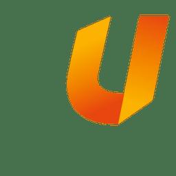 U letter origami isotype