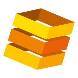 Orange 3d boxes logo
