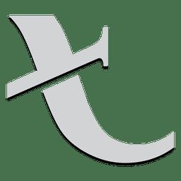 T angled alphabet isotype