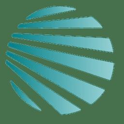Blue stripes globe icon