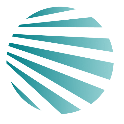 Blue stripes globe icon Transparent PNG