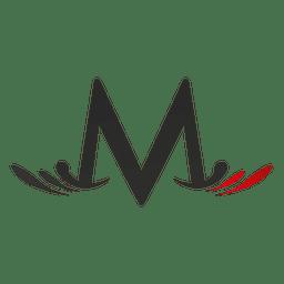 M letter swirls isotype