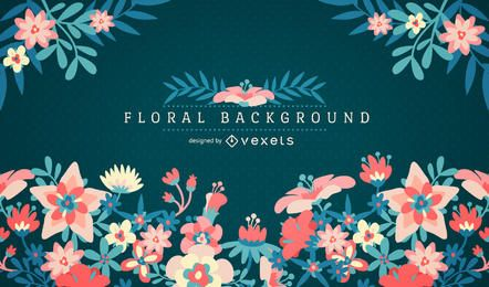 Floral background with fram