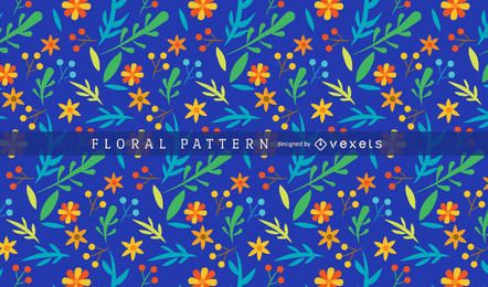 Bright and colorful floral pattern