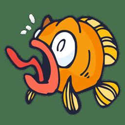 Orange fish cartoon