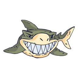 Shark fish cartoon