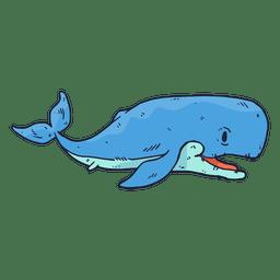 Whale fish cartoon