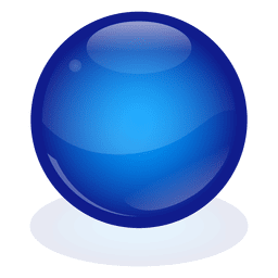 Blue marble ball